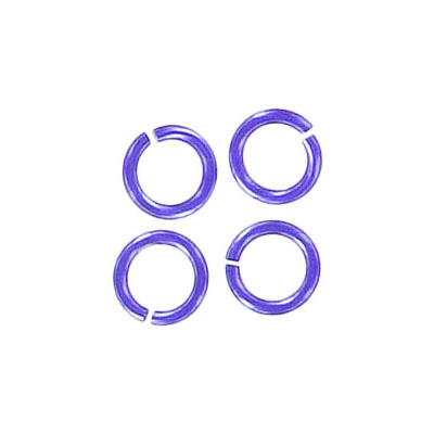 Jumprings alluminium, 7mm, 1mm thick, purple