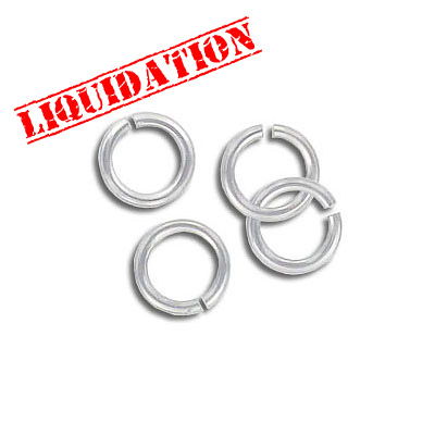 Jumpring aluminium, 7mm outside diameter, 1mm thickness silver plate