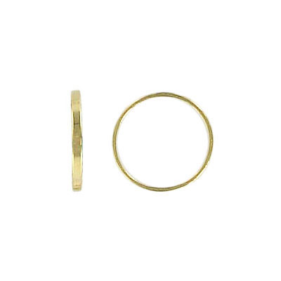 Small round link gold plate