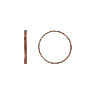 Small round link antique copper