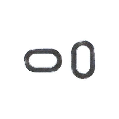 Jumprings, 11x7mm, rectangle, black nickel finish