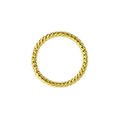 Fansy jumprings 16mm outside diameter soldered gold plate
