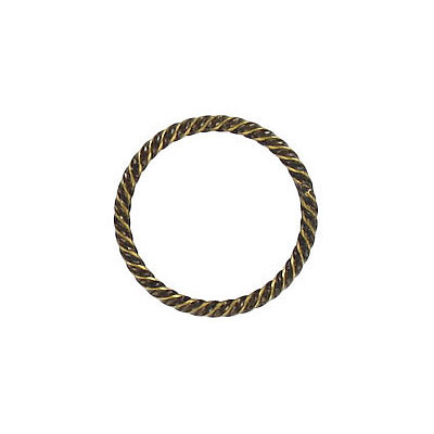 Fansy jumprings 16mm outside diameter soldered antique brass