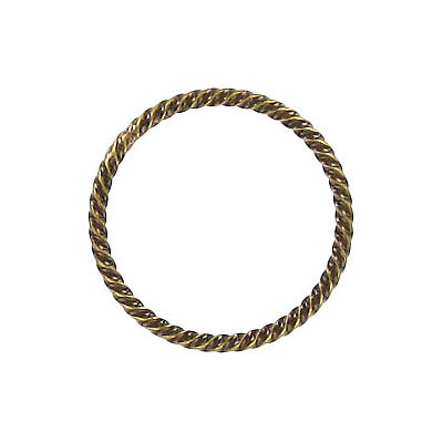 Fansy jumprings 20mm outside diameter soldered antique brass