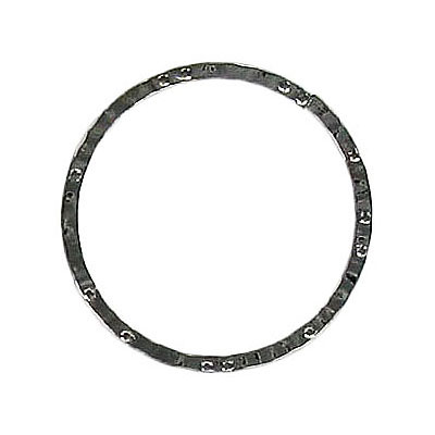 Jumpring hammered 24mm outside diameter soldered (0.8 mm thickness) black nickel plate