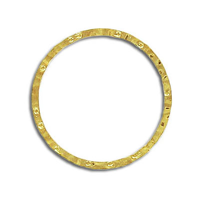 Jumpring hammered 24mm outside diameter soldered (0.8 mm thickness) gold plate