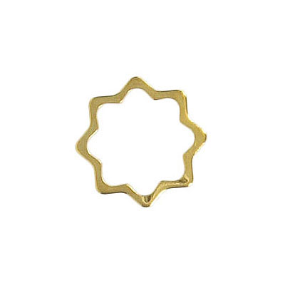 Jumpring wavy gold plate