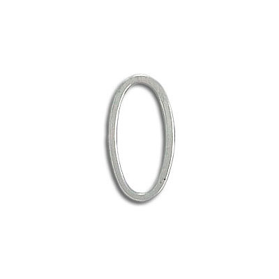 Oval jumpring 8x15mm silver plate (pack of 32 pieces)