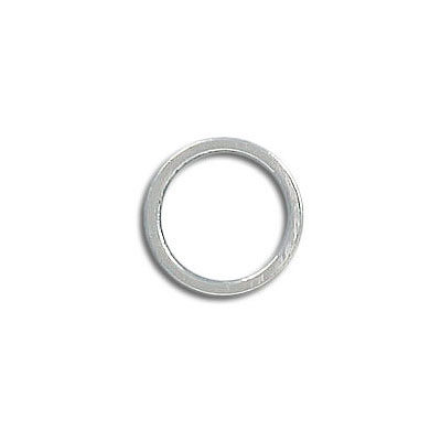 Round jumpring 12mm silver plate (pack of 42 pieces)