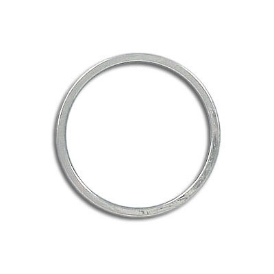 Round jumpring 20mm silver plate (pack of 22 pieces)