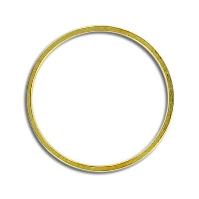 Round jumpring 25mm gold plate (pieces of 18 pieces)