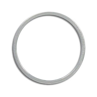 Round jumpring 25mm silver plate (pack of 18 pieces)