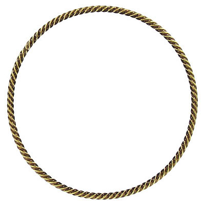 Fancy jumpring 40mm soldered antique brass