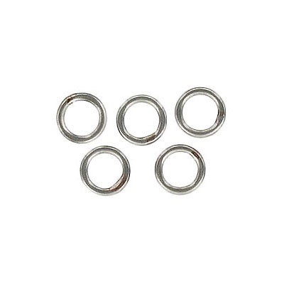 Jumpring, soldered, 6mm, stainless steel