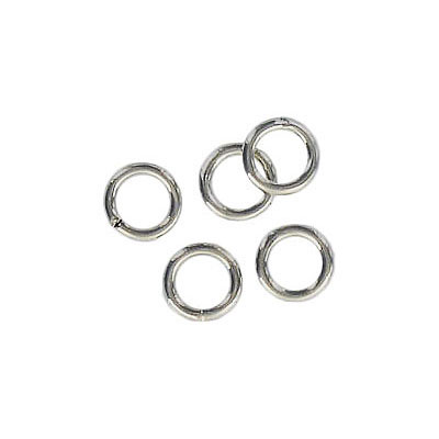 Jumpring 6mm outside diameter soldered (1 mm, 18 gauge thickness) nickel plate