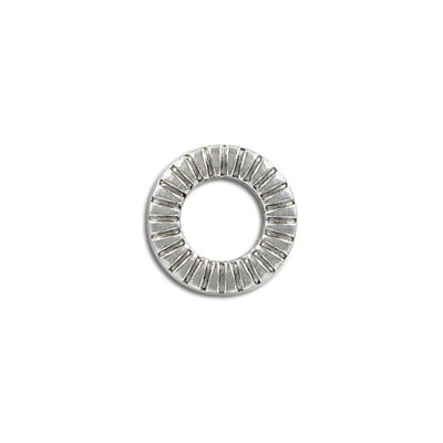 Ring connector, 16mm, round, stainless steel