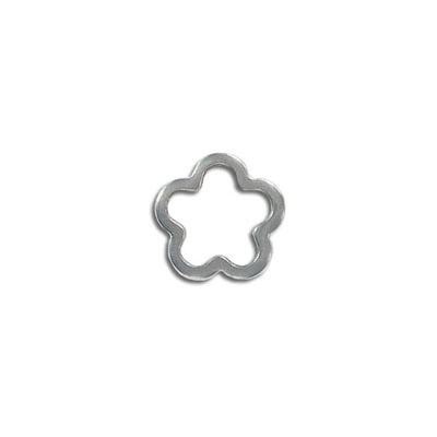 Jumprings, connector, 14mm, flower, stainless steel