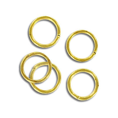 Jumpring 9mm outside diameter (0.9 mm, 19 gauge thickness) gold plate