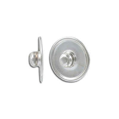 Snap clasp, 18mm, snap clasp base, antique silver