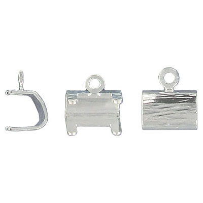 Pendant setting for Swarovski Elements 4439, 20mm, 1 row, silver plate, nickel free