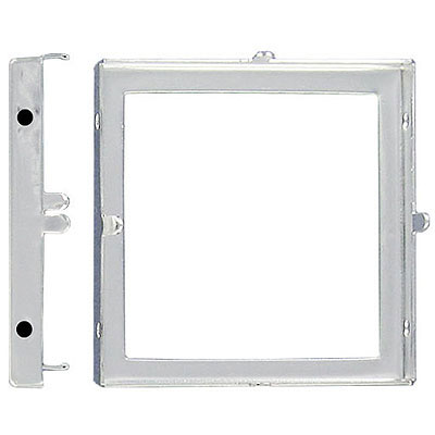 Setting for Swarovski Elements 4439, 30mm, square, open back, 4-hole, silver plate
