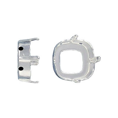 Setting for Swarovski Elements 4461, 4470, 12mm, open back, silver plate nickel free