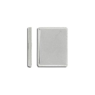 Bezel setting, 16x12mm, rectangle, silver plate