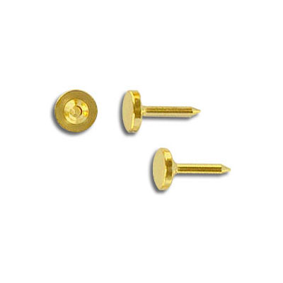 Nail 1/4 inch with 6mm pad gold plate