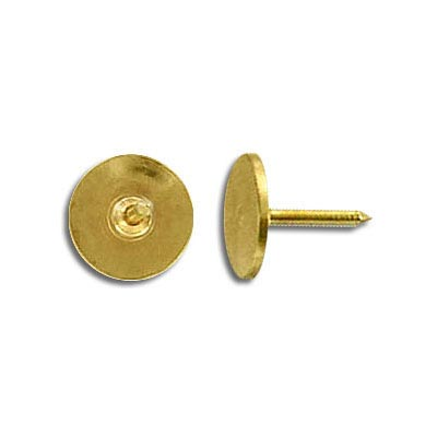 Nail 3/8 inch with 9mm pad gold plate