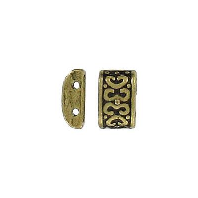 Spacer bar, 2 row, antique brass, lead safe