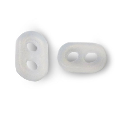 Double rubber mask adjuster/spacer, 11x7mm, clear