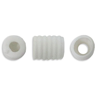 Rubber cone protective mask spacer, 18x10mm, white