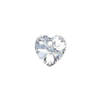 Preciosa Maxima machine cut, 10mm, heart, crystal labrador