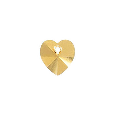 Preciosa Maxima machine cut, 10mm, heart, aurum