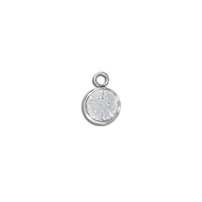 Metal pendant, 10mm, Chinese crystal, stainless steel, 304l