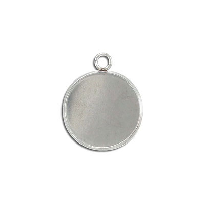Metal pendant, setting for Swarovski 2035/20MM and cabochons SP20MM, stainless steel