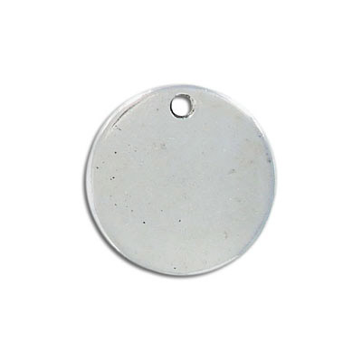 Metal pendant, 25mm, round, antique silver
