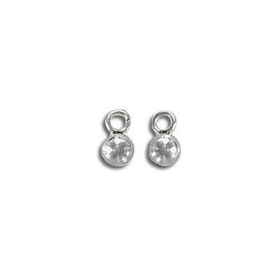 Metal pendant, chain end, 4mm ball, stainless steel