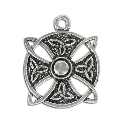 Heavy metal pendant, 32mm, celtic pendant, pewter, lead safe