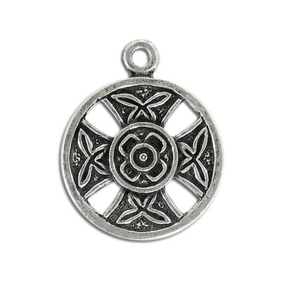 Heavy metal pendant, 30mm, round, celtic pendant, pewter, lead safe