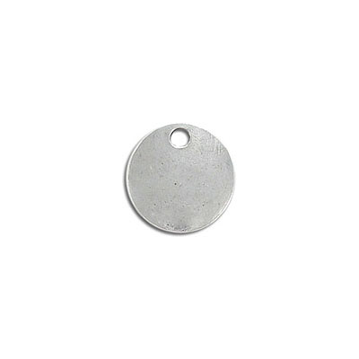 Metal pendant, 16.5mm, round, pewter