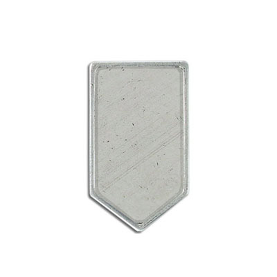 Metal pendant, inverted house setting 30x20mm, pewter