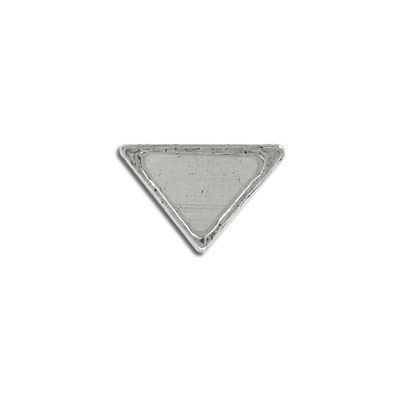 Metal pendant, 19x13mm, inverted triangle setting, pewter