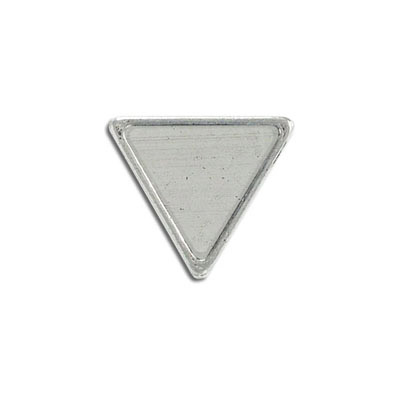 Metal pendant, inverted triangle setting 16mm, pewter