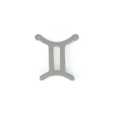 Metal pendant, Zodiac sign, Gemini, stainless steel