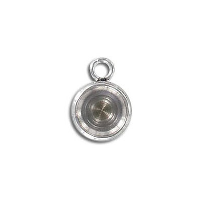 Metal pendant, 10mm, base for crystals SS39, stainless steel, 304l