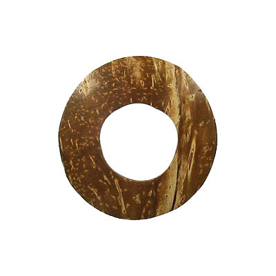 Wood pendant coconut shell flat ring 40mm