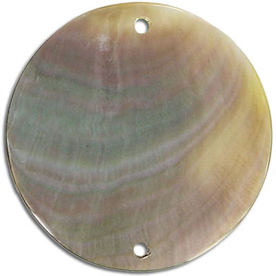 Shell pendant 2-holes coin