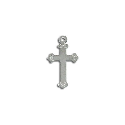 Cross pendant, stainless steel