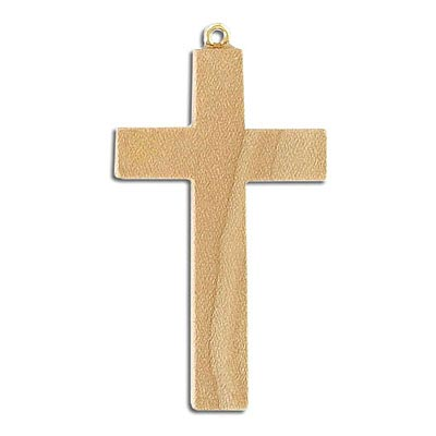 Wooden cross pendant 25x40mm natural